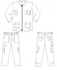 костюм ITP серый саржа c[tvf