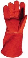 Перчатки  рабочие с крагами спилковые на подкладке.