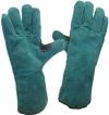 Перчатки  рабочие с крагами спилковые на подкладке с усиленным большим пальцем